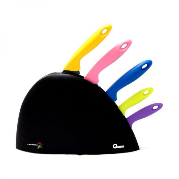 Oxone Rainbow Knife Set [6Pcs] OX606 / OX 606 - Bubble Wrap